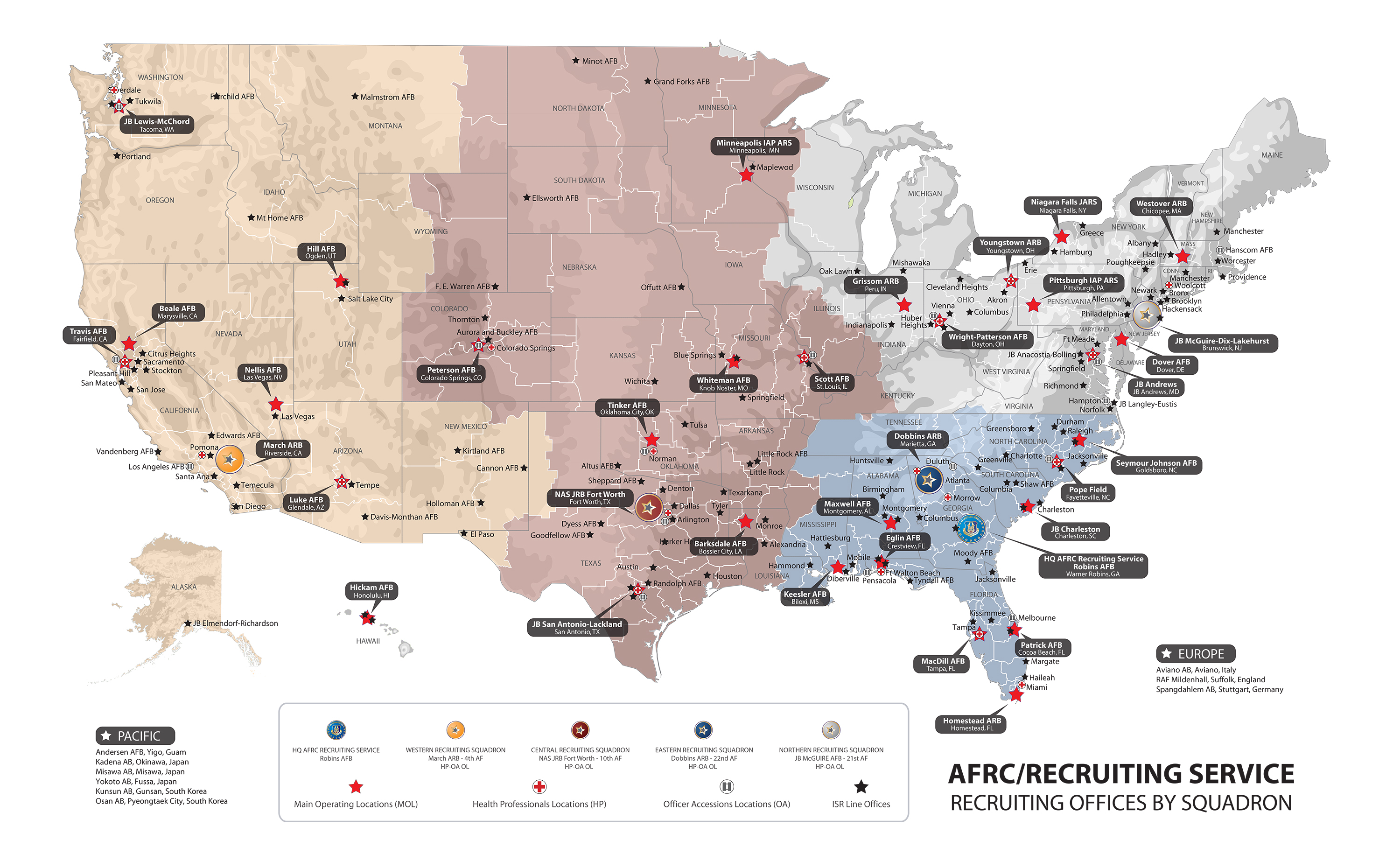 About Us - Us army recruiting map